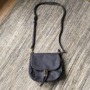 NWOT Moda Luxe gray leather blend crossbody purse